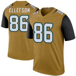 Ben Ellefson Jacksonville Jaguars Youth Bold Color Rush Legend Nike Jersey - Gold